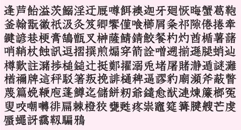 収録外字一覧(人名外字1500 V5)...